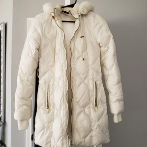 Bebe down coat size  S